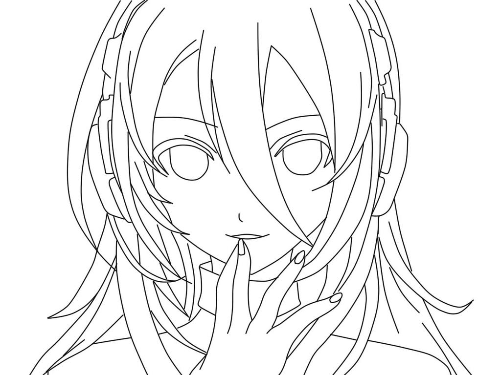 Line Art Lily : Vocaloid lily lineart by gerza on deviantart