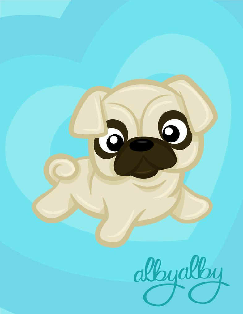 Cute Pug by ALBY-LePetiteDreamer on DeviantArt