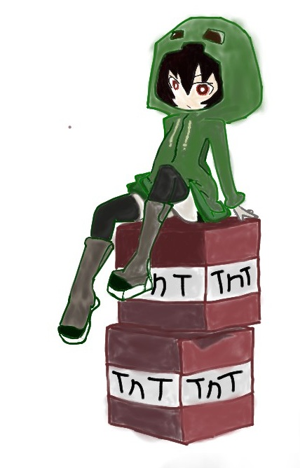 Creeper girl by defenderyachir on deviantart - Creeper anime girl ...