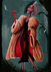 Cruella de Vil by Karithina