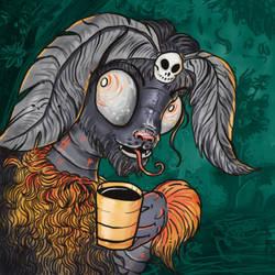 Coffee Mothcat by Karithina
