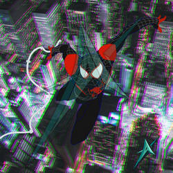 Into the spider verse: miles morales SPIDERMAN by anoterhunter94