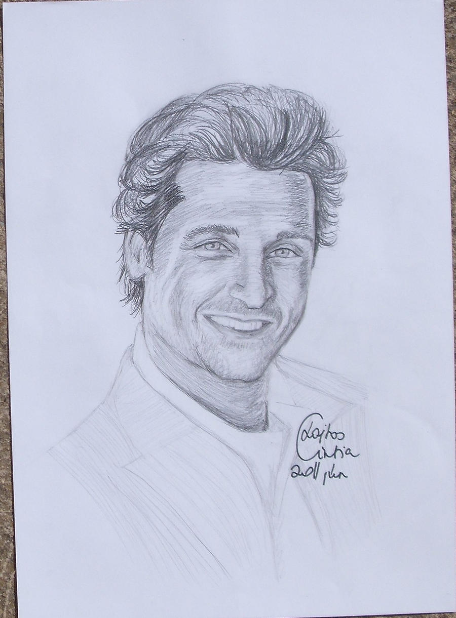 Drawing Lines Grey S Anatomy : Derek shepherd by cintia on deviantart
