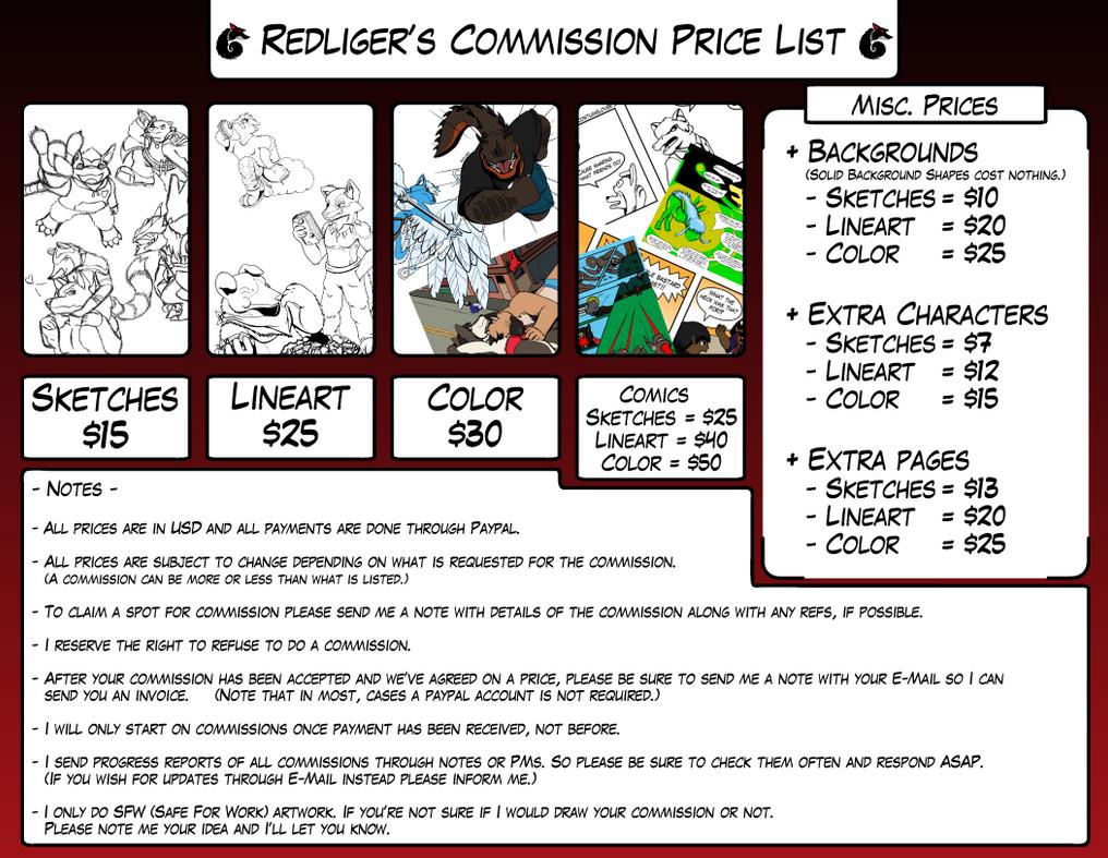 Redliger's Commission (Open) by redliger