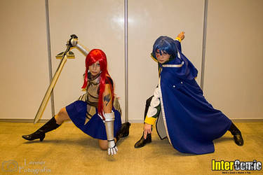 Jellal and Erza ready to fight