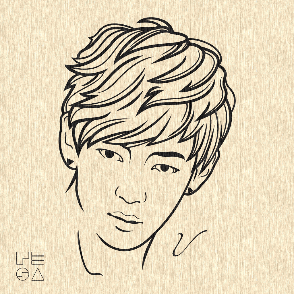 Line Art Vector Illustrator : Taehyung bts vector line art by resaembutin on deviantart