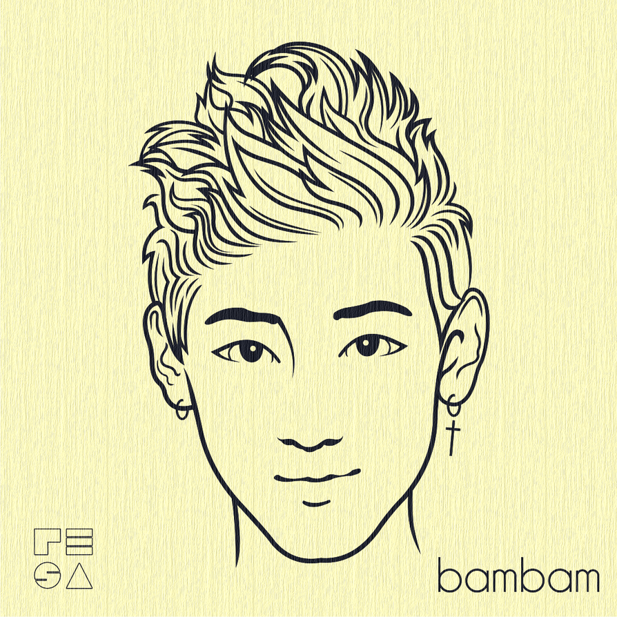 Line Art Kpop : Got bambam vector line art by resaembutin on deviantart