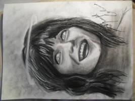zooey deschanel charcoal sketch by Josephmarandax