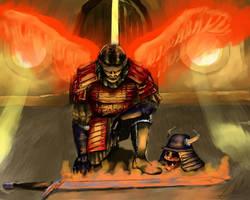 Samurai mage by Josephmarandax