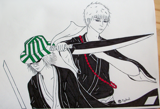 Inktober 4 - Urahara and Ichigo