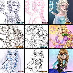 Switch Around Meme: Disney Princess by MiiBT