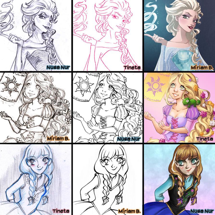Switch Around Meme: Disney Princess by MiiBT