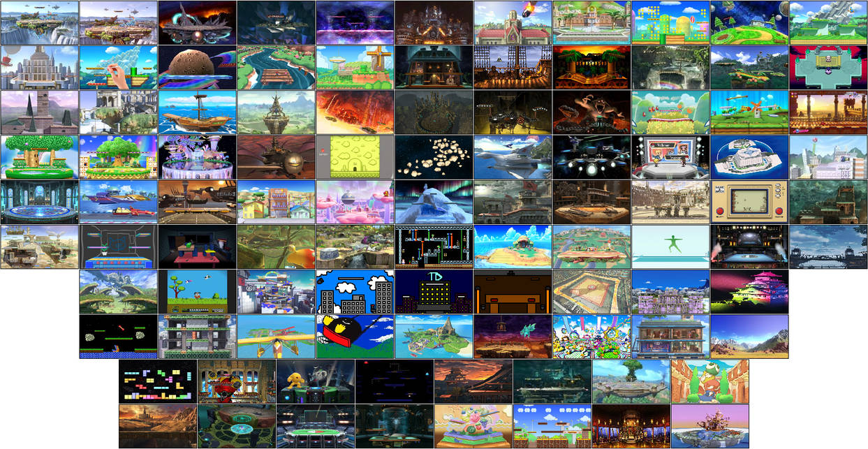 Super Smash Bros  Neo - All Stages + DLC by FlameEagle25 on DeviantArt