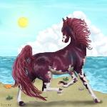 Beach Day by HorseOfBlackestNight