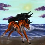 Ocean Run by HorseOfBlackestNight