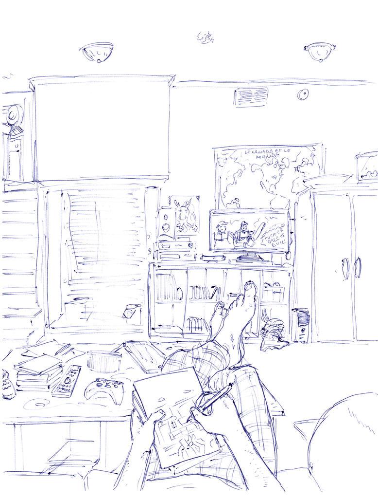 POV Pen Sketch by Geekboy15