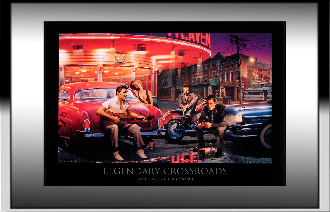 Legendary Crossroads Painting with Frame by