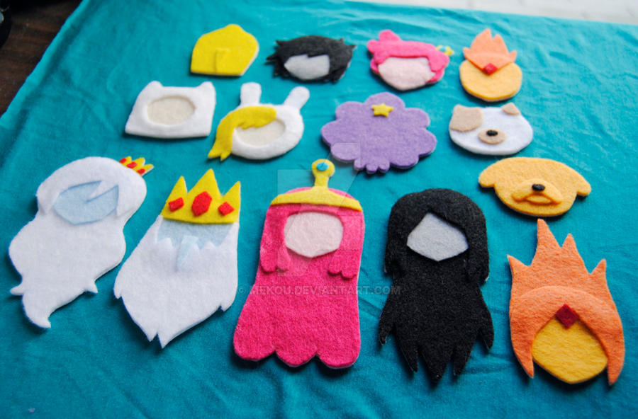 Adventure Time In Felt by Mekou