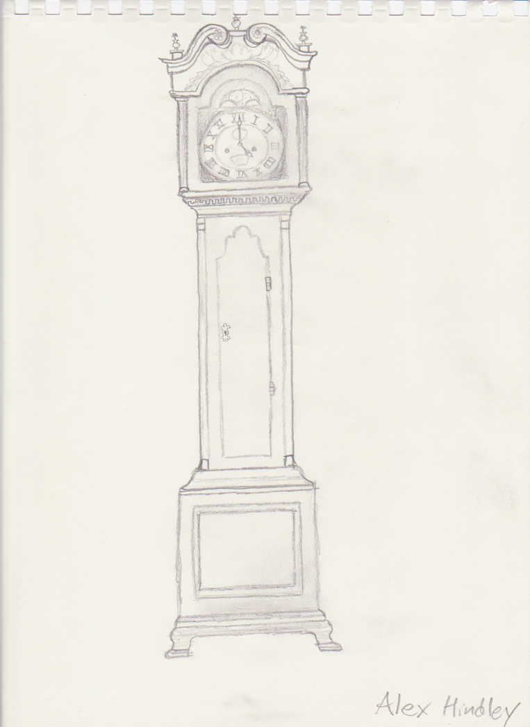 grandfather clock drawing. grandfather clock by ash243x drawing t