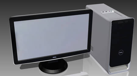 PC Monitor and Tower