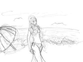 Beach WIP LineArt