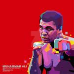 Muhammad Ali red bg in WPAP