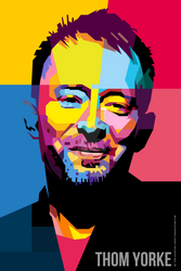 THOM YORKE SMILE WPAP A1 PNG 2835x4252