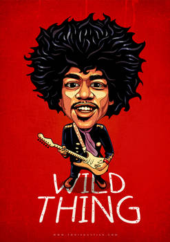 Jimi Hendrix-Caricature-#2--Toni-Agustian