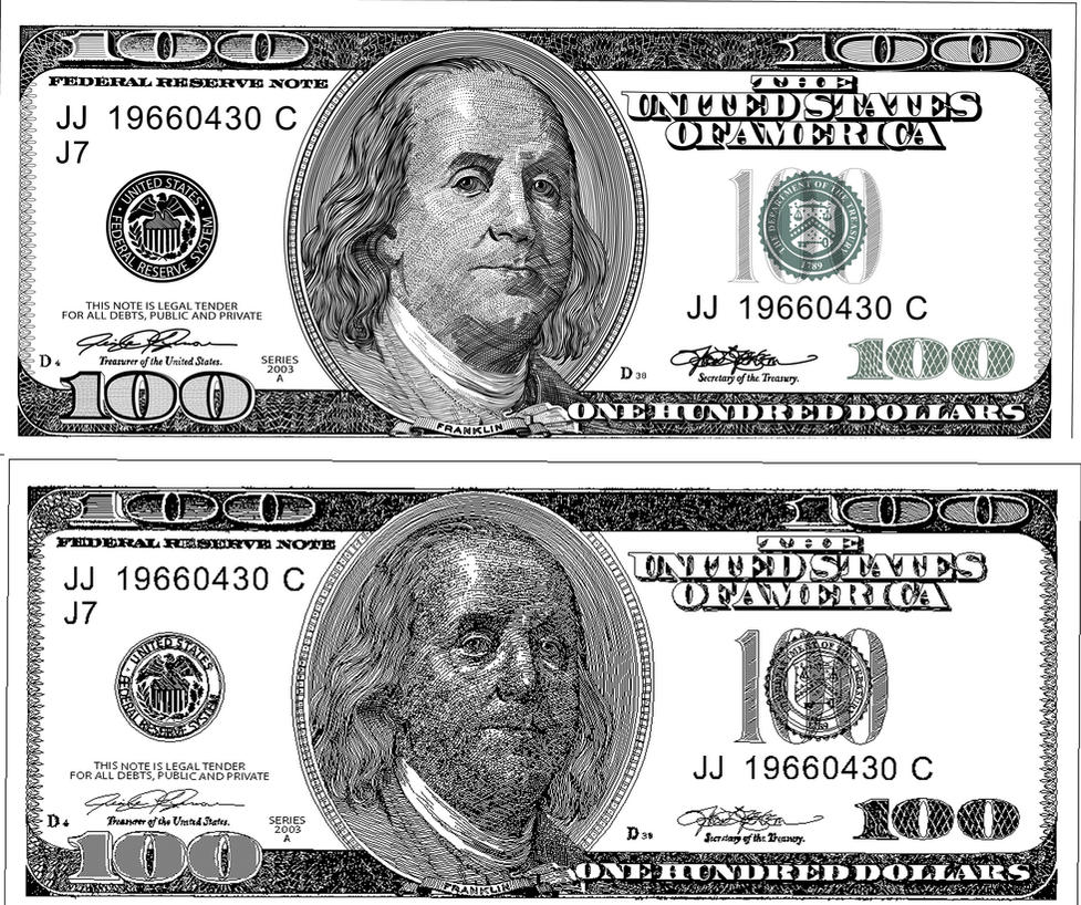Доллары для печати на принтере картинки