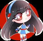 Chibi Pokemon Trainer Hitomi by RumbyFishy