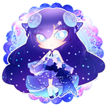 Elegant Starry Sheep Chibi Custom + Speedpaint by RumbyFishy