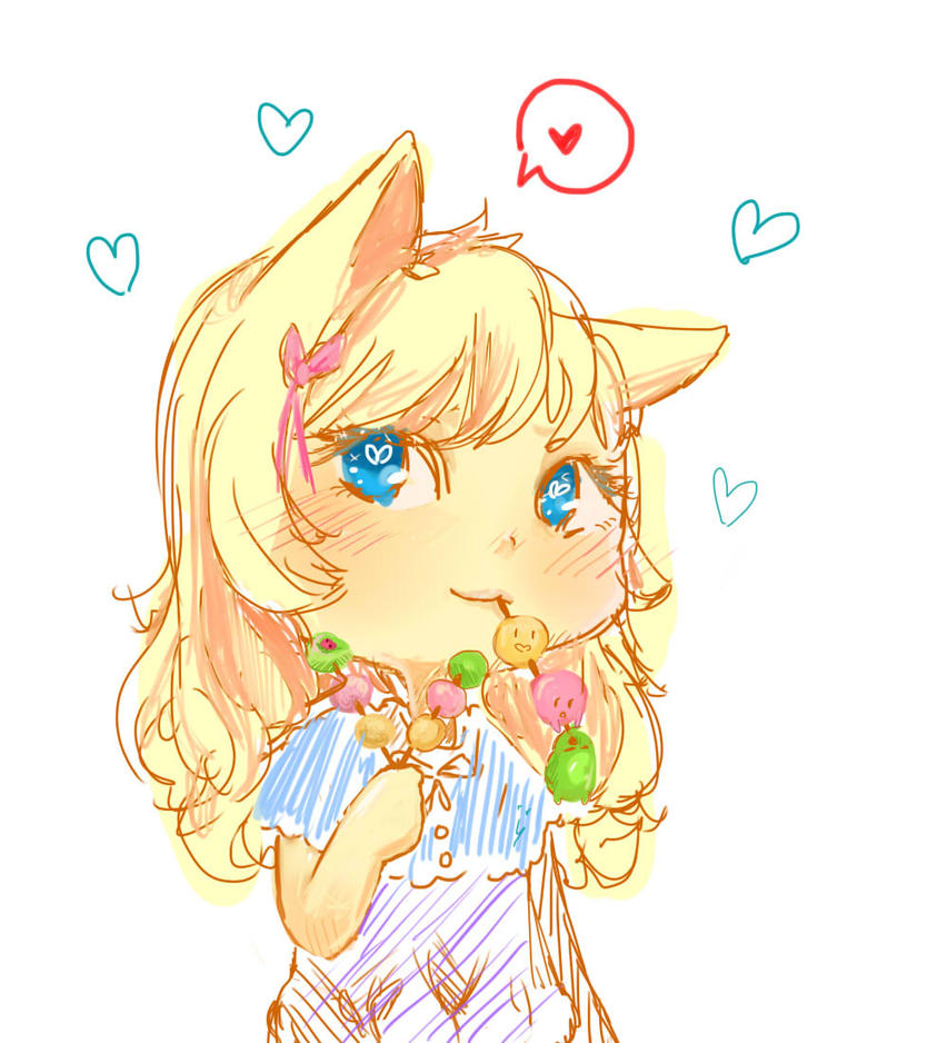 Fox Sketch Girl by Yli-Alia