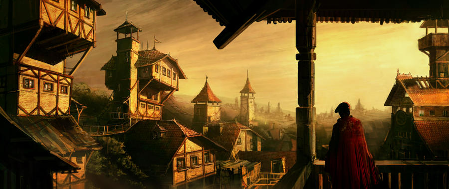 Medieval city by silviudinu