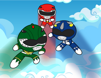 Mighty Morphin Power Puff Girls by Ayce78