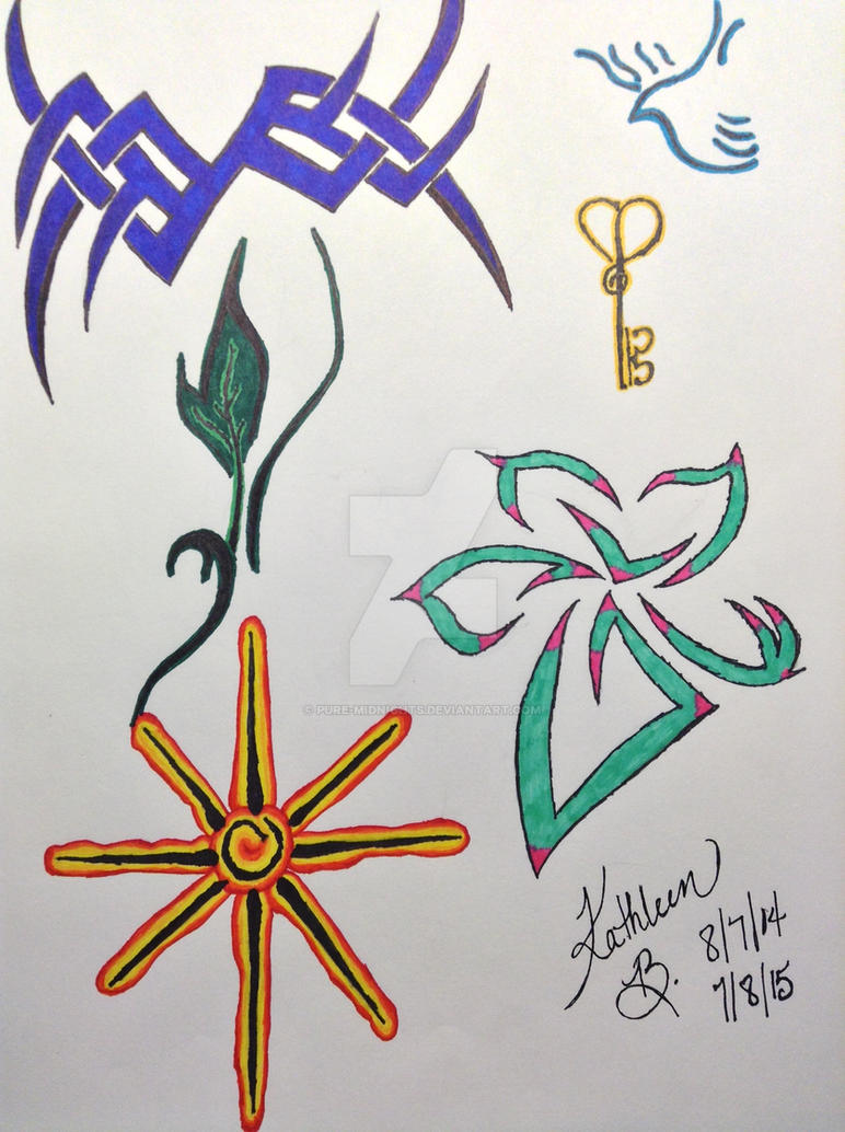 Tattoo Designs II (Colored) by Pure-Midnights