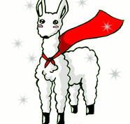 Super Sparkly Albino Llama by Obake-no-Kage