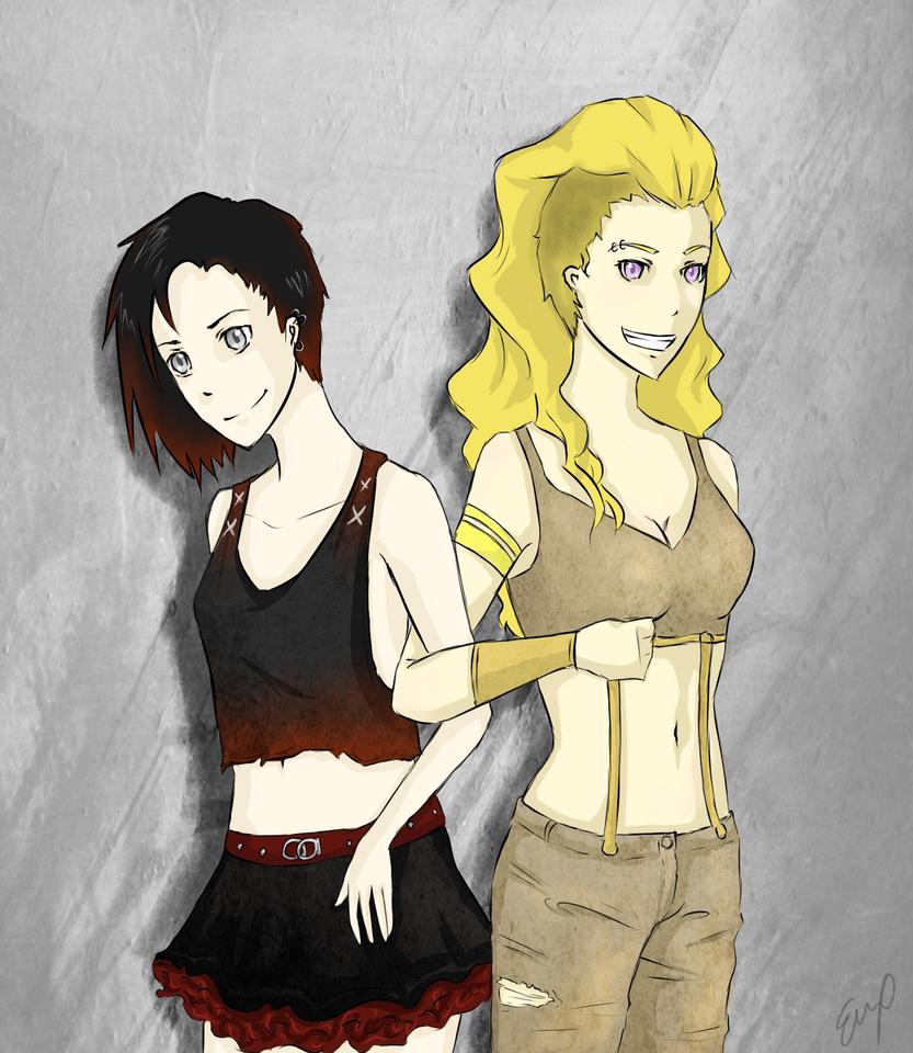 Punk Ruby and Yang by Obake-no-Kage