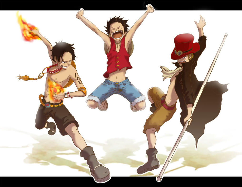 Luffy,Ace, and Sabo by Whirlwhind on DeviantArt