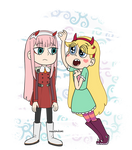 Zero Two y Star Butterfly (Ditf X Svtfoe)