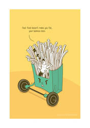 French Fries  by BIGMOUTH-design