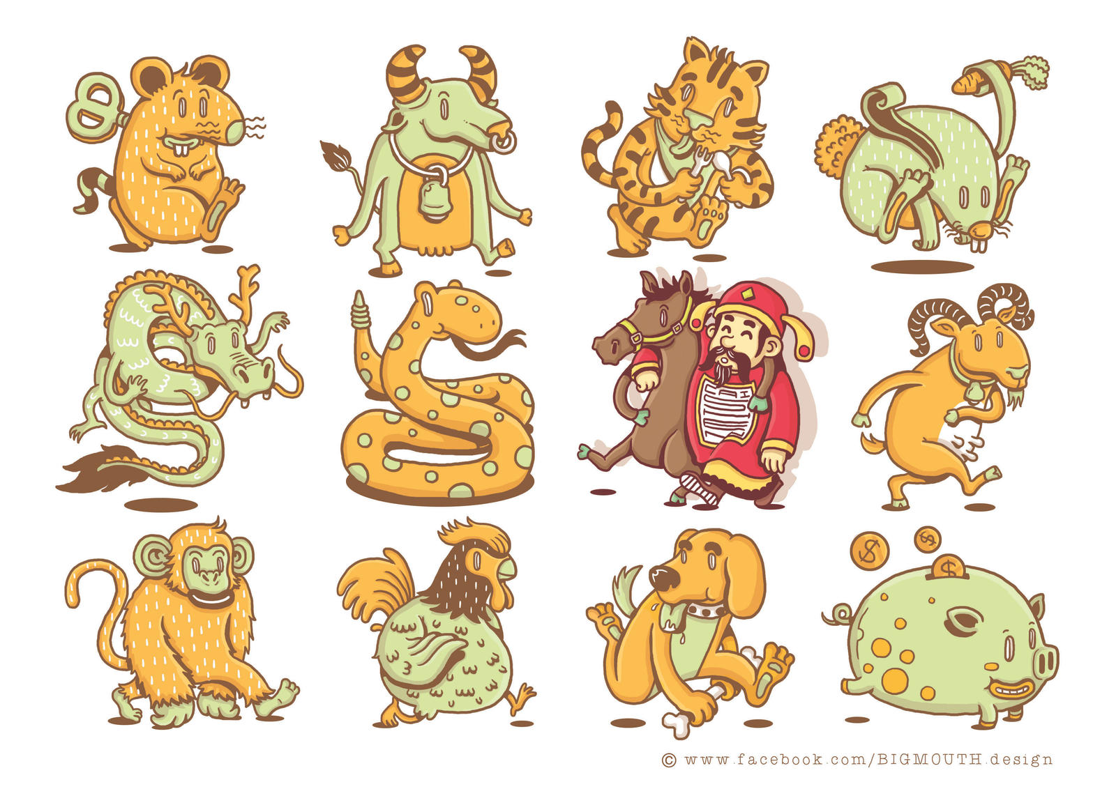 happy chinese new year 2014 by bigmouth design - Chinese New Year 2014