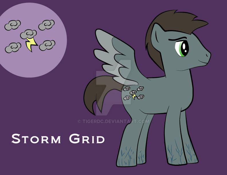 Storm Grid- MLP OC by TigerDC