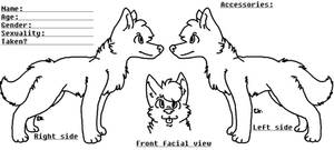 Wolf Reference Sheet Base (free) by ImagineStarlights