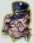 AC Badge :: Steampunk Wolf