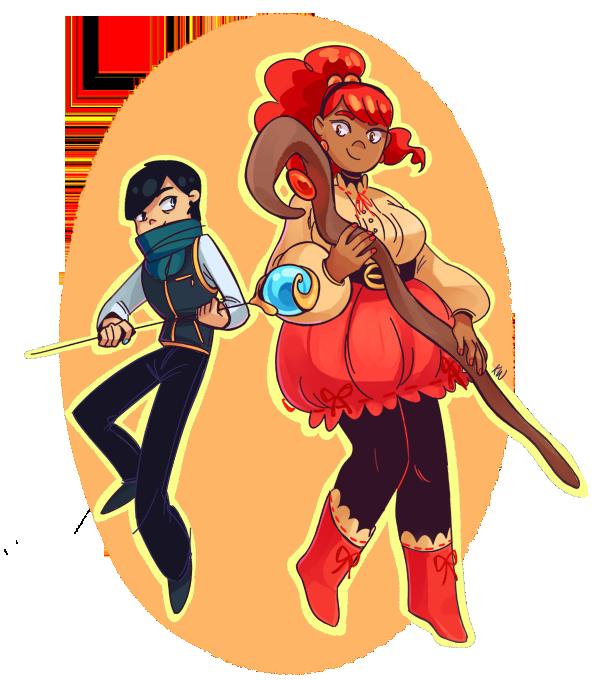 Indigo and Scarlet by kimikiwi48