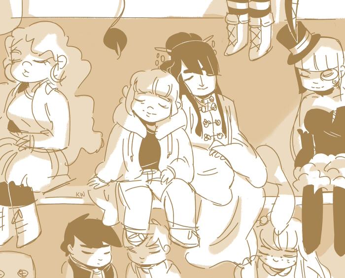 MARK: Asleep by kimikiwi48