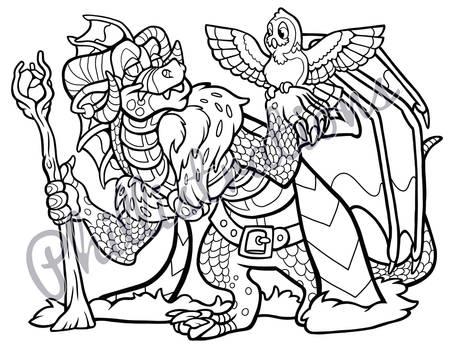 Wizard Dragon Coloring Page