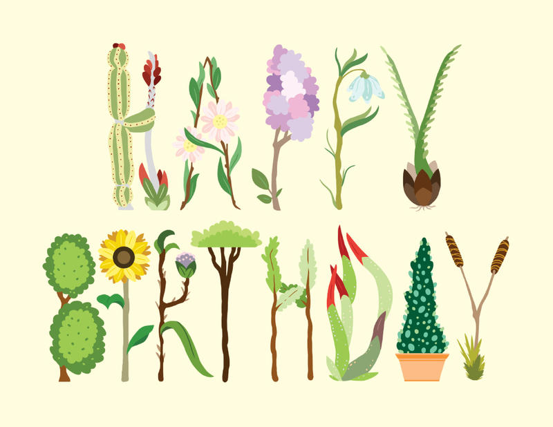 Homegrown Birthday Wishes by Phillistrations