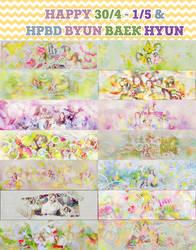 [SHARE PSD HAPPY 30/4 - 1/5 - HPBD BYUN BAEK HYUN] by MiMiSoCute123