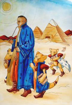 Librarian Sobek Memnon and his Abras